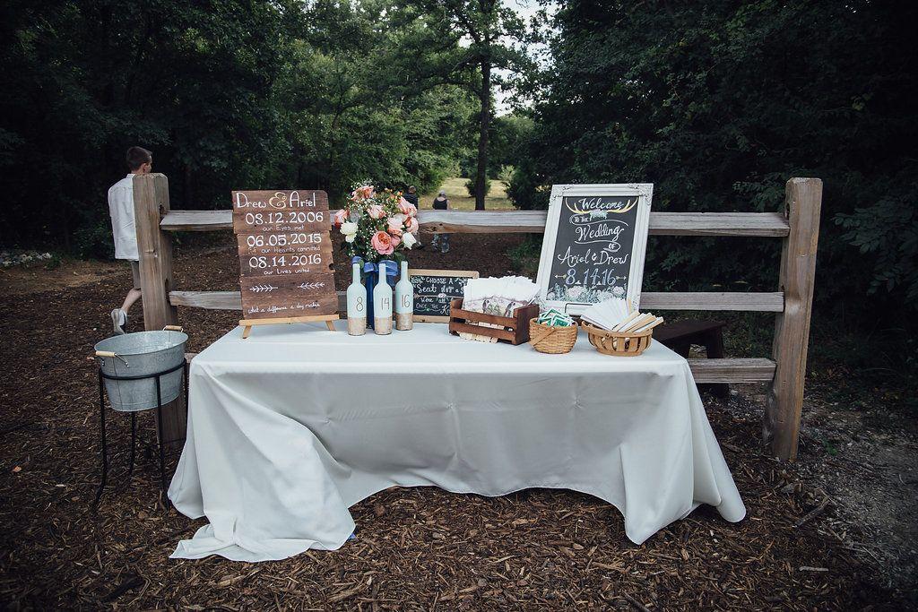 August wedding at The Grove in Aubrey, TX!