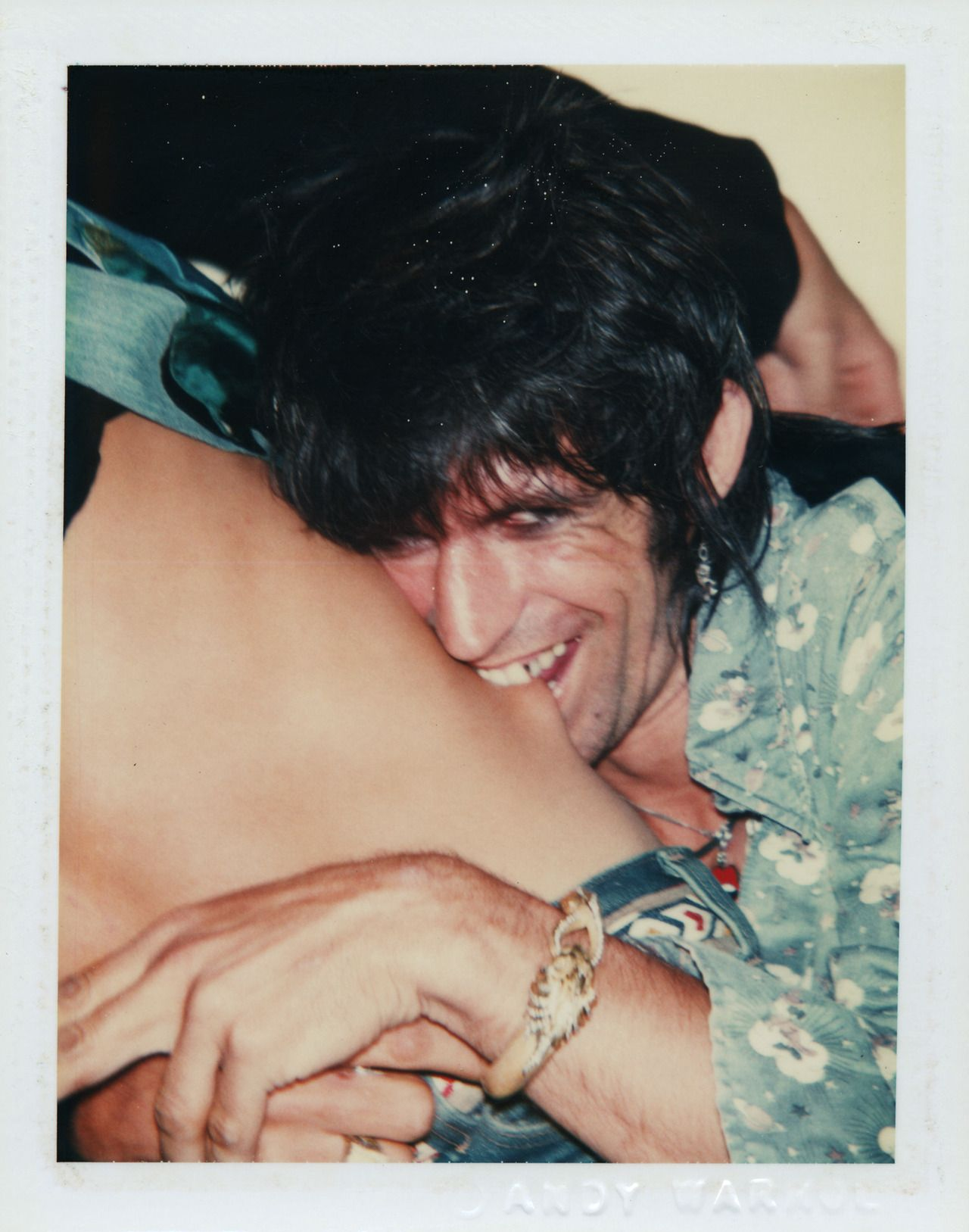 Keith photographed for 'Love You Live' cover (1977, photo by Andy Warhol).