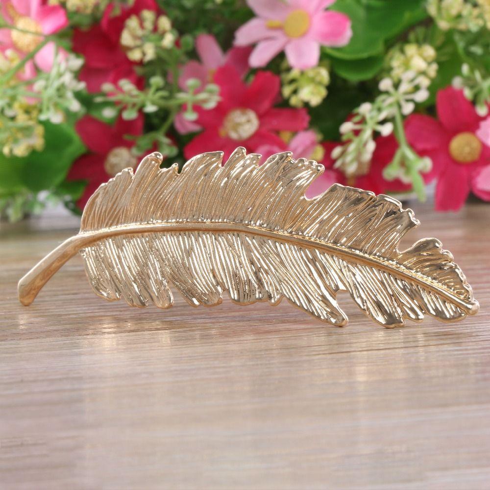 1 개 패션 금속 잎 헤어 클립 헤어핀 웨딩 mariage 머리 핀 머리 보석 액세서리 판매