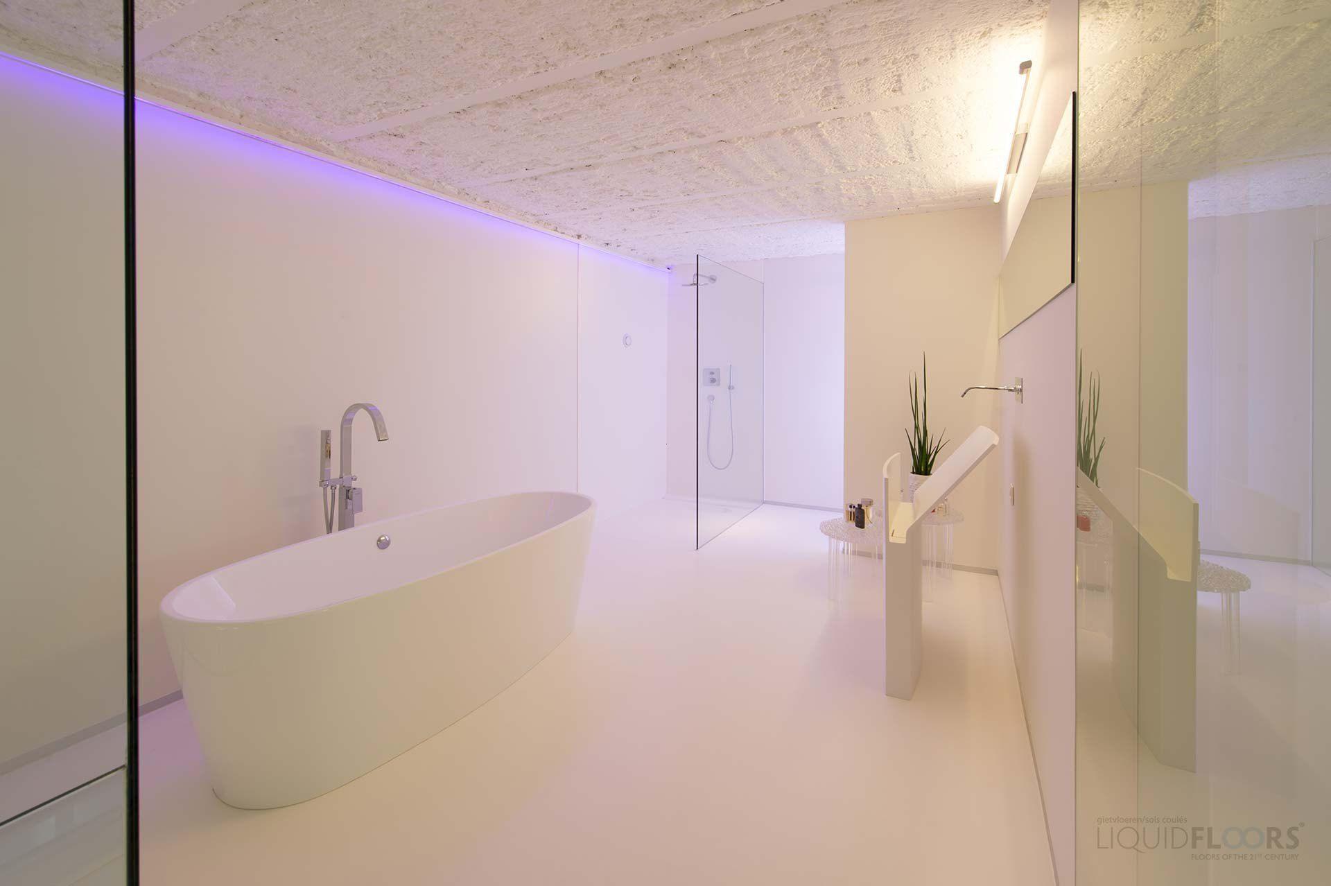 Gietvloer badkamer douche reyns badkamers pinterest