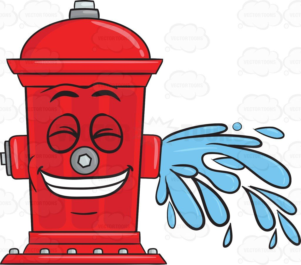 Giddy Looking Fire Hydrant While Flushing Water Emoji Fire Hydrant Hydrant Fire Prevention