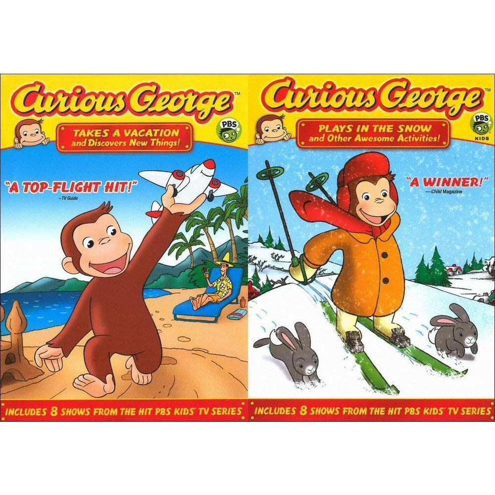 Curious George: Plays in the Snow/Takes a Vacation (2 Discs)