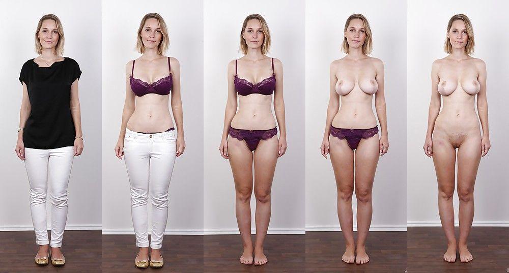 Amateur dressed undressed