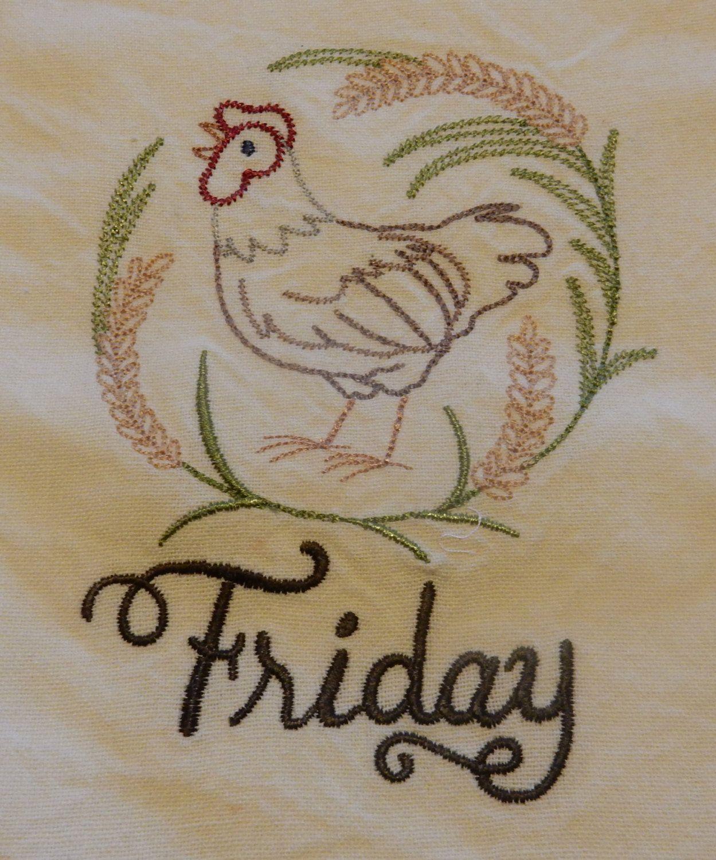 Friday's Chicken by NooksAndGrannys on Etsy