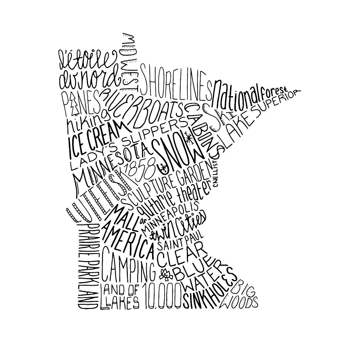 State Typography Art
