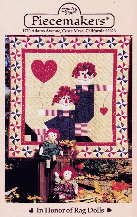 RAGGEDY ANN RAG DOLL * OOP Quilt Wallhanging PATTERN Piecemakers ... : raggedy ann quilt pattern - Adamdwight.com