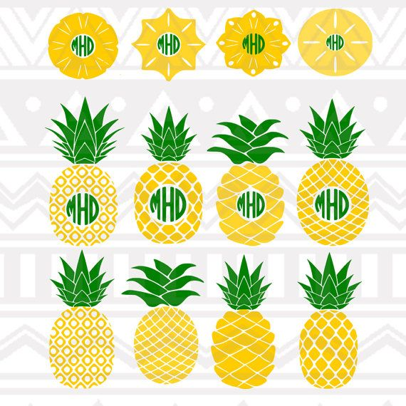 Pineapple monogram svg, Designs, SVG, DXF, EPS, Summer svg