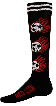 Red Lion Flaming Soccerball Socks Soccer Socks Knee High Sports Socks Sport Socks