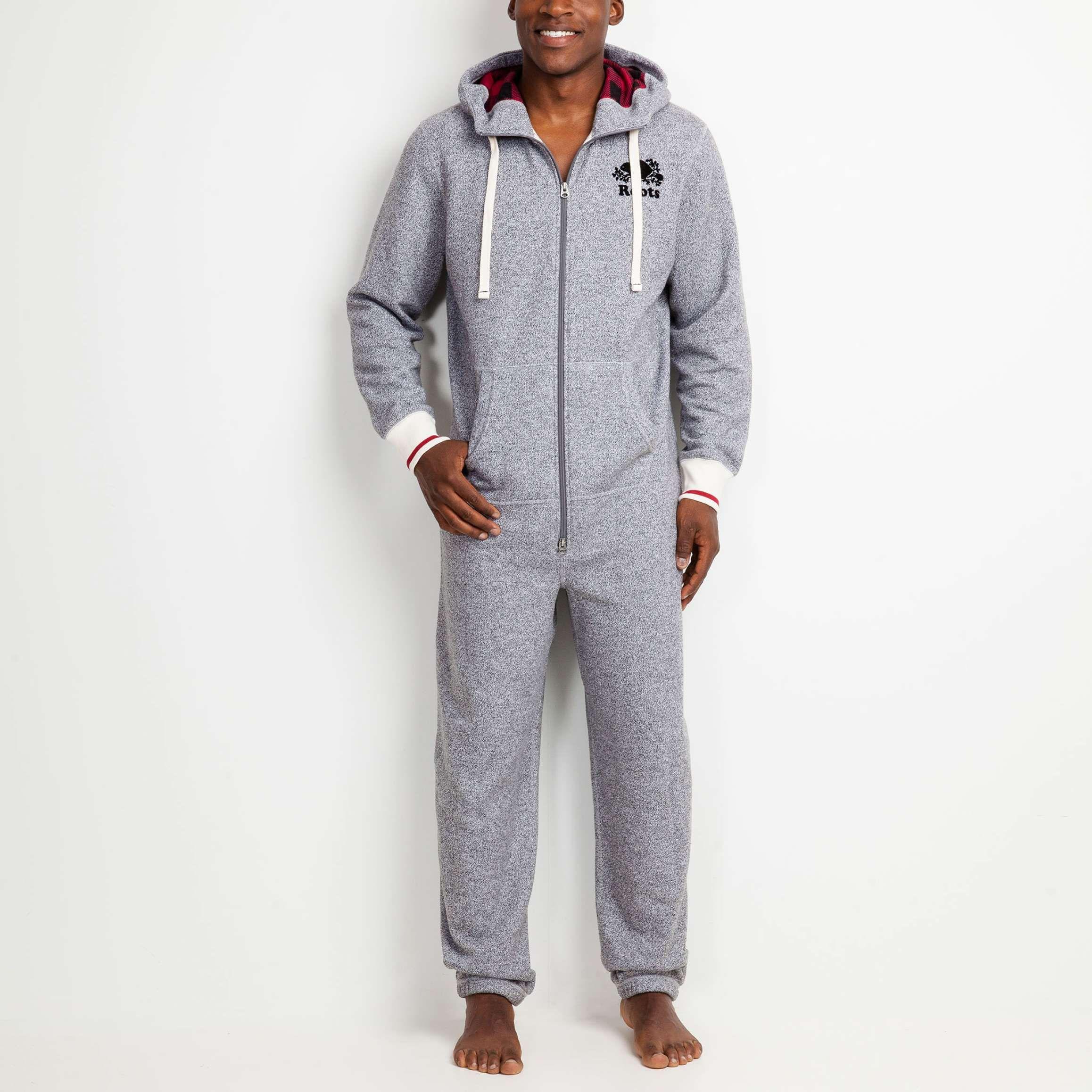 Mens Cabin Onesie Roots Sleepwear for Men Lounge wear