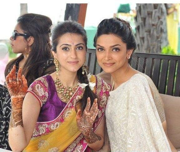 Bollywood Rare Pictures Deepika Padukone Indian Look Yellow Saree