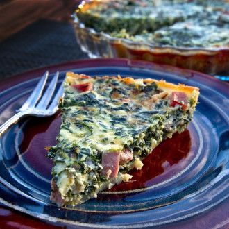 Even real men eat quiche, right?  This is such a great quick pie for breakfast, lunch or brunch!