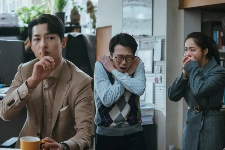 """Song Joong Ki's Secret Prompts Dramatic Reactions From Yoon Byung Hee And Jeon Yeo Bin In """"Vincenzo"""""""