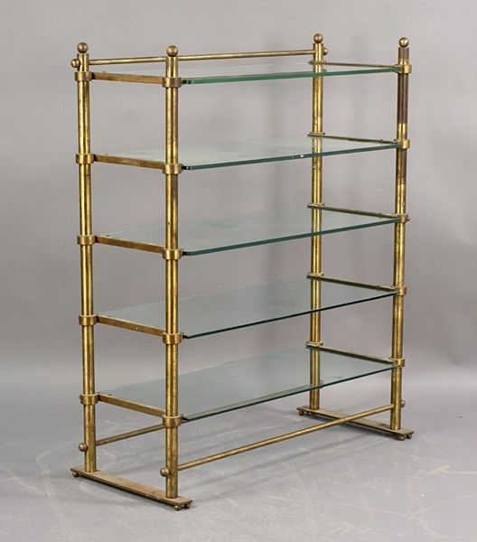 28 Vintage French Bronze Brass Pastry Glass Shelves Lot 28 Glass Wall Shelves Glass Display Shelves Brass Shelving
