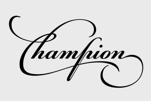 PF Champion Script Pro | design: letters | Champion tattoo