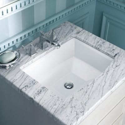 Kohler Archer Undermount Bathroom Sink In White K 2355 0 At The