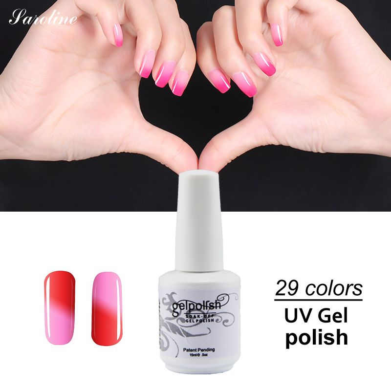 Saroline Top Best Brand Temperature Changing Color Chameleon Uv Gel Nail Lacquer Nails Professional Soak Off Naili Art