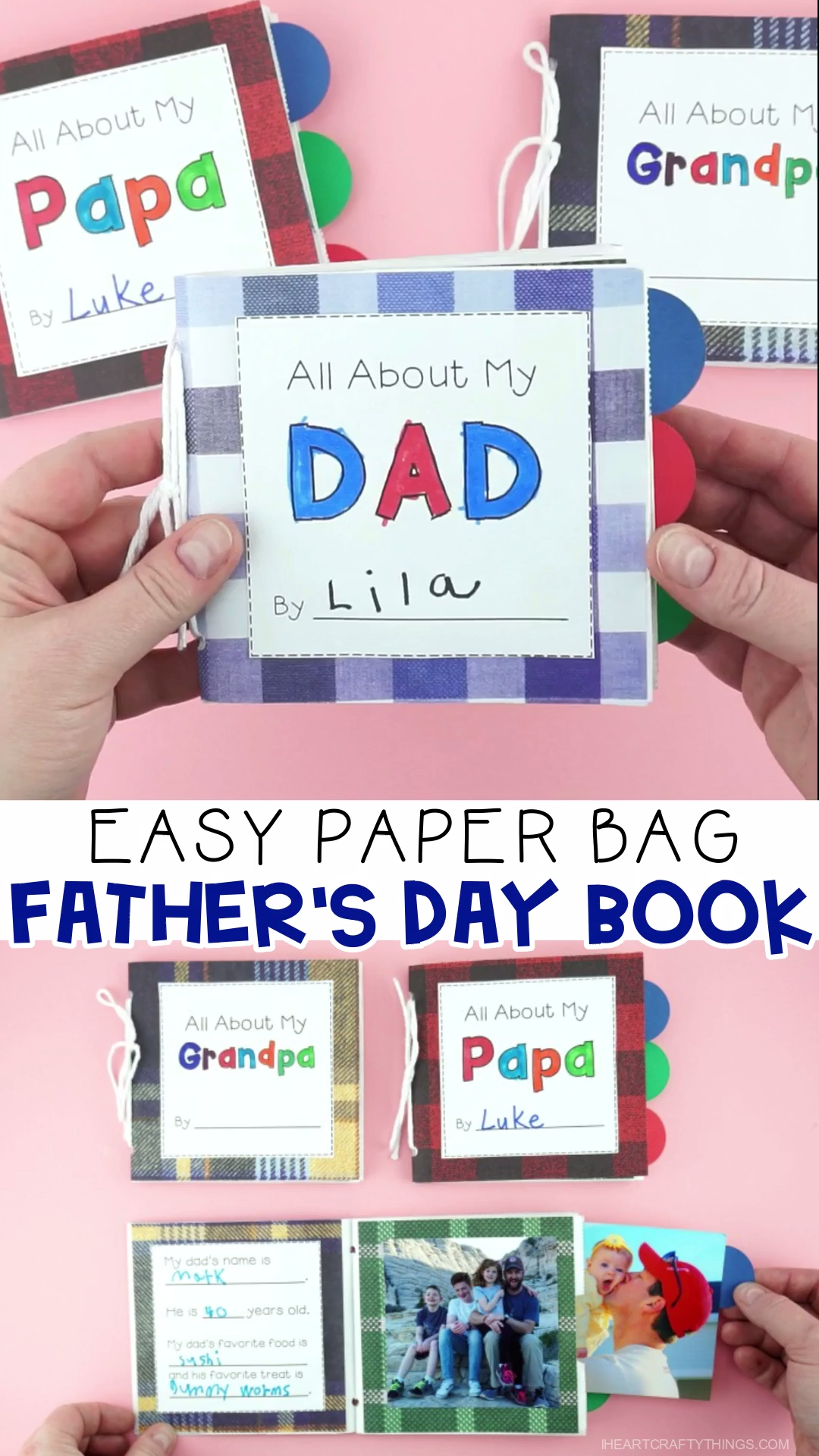 How to Make a Paper Bag Father's Day Book