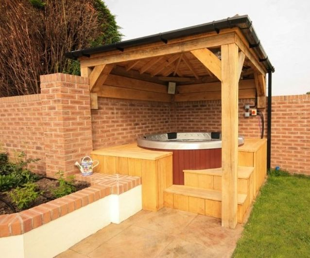 Pergola Design Ireland: Hot Tub Shelters, Hot Tub Outdoor, Hot