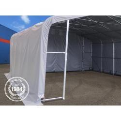 Zeltgarage 8x36m Pvc 550 g/m² grau wasserdicht Wikinger Garagenzelt Toolport #outdoorpatiodecorating