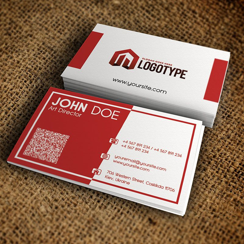 Corporate Red Business Card - Premium Business Card Template http ...