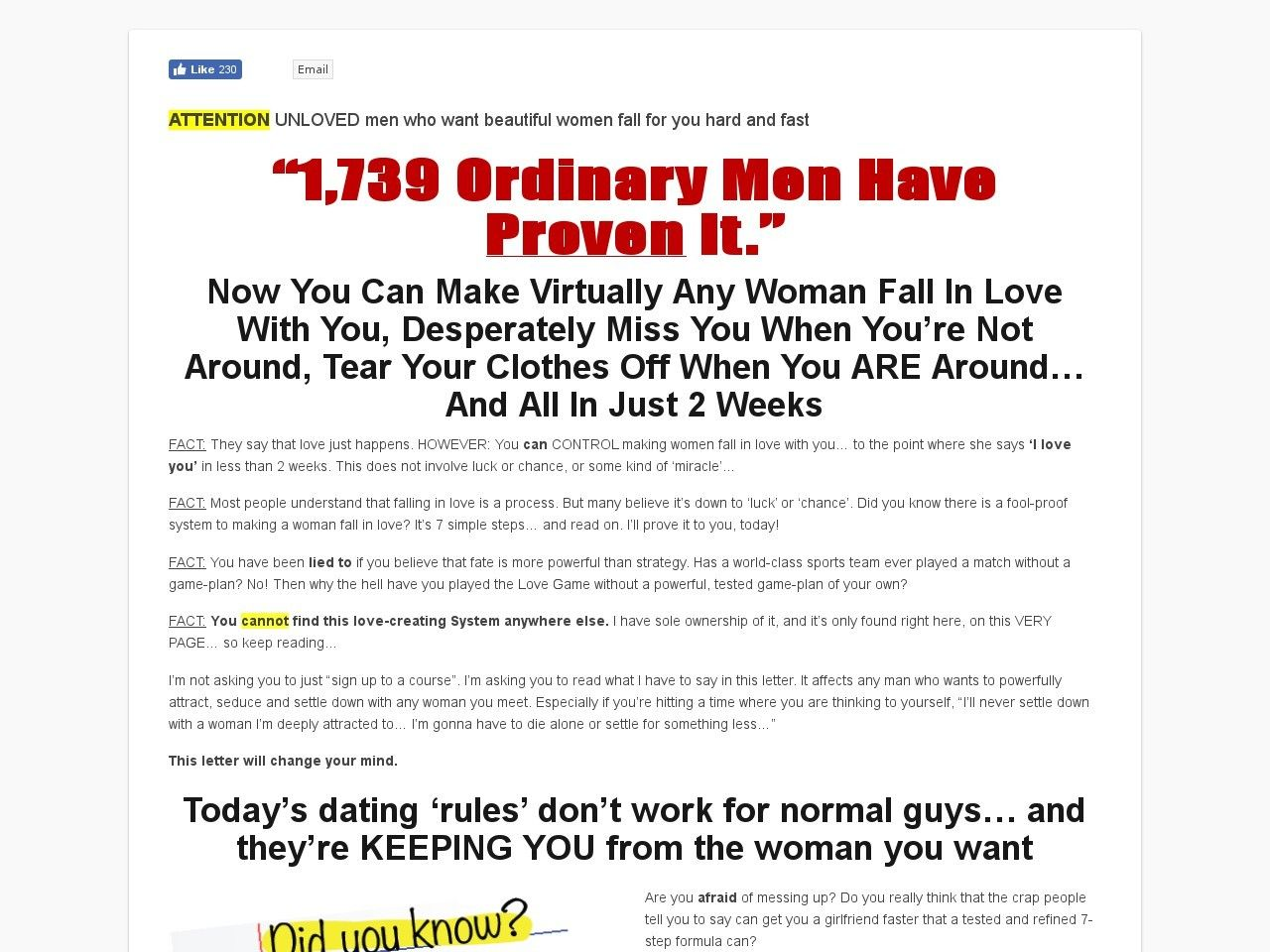 Cupid love system 7 steps
