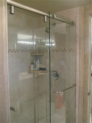 Hydro Slide 3 8 Frameless Sliding Door With Panel Shower Enclosure Frameless Shower Enclosures Frameless Sliding Doors
