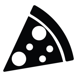 Simple Pizza Slice Icon Pizza Slice Easy Pizza Icon