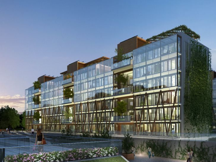 Nanjing Eco Housing To Feature Cascading Living Walls And