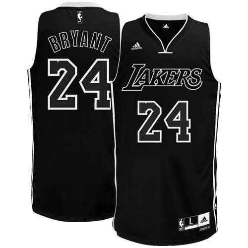 9ac0c3501 NBA Men s Los Angeles Lakers Kobe Bryant Black-Black-White Swingman Jersey  (Black White