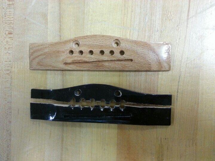 homemade oak guitar bridge wood workings guitar diy cigar box guitar guitar. Black Bedroom Furniture Sets. Home Design Ideas