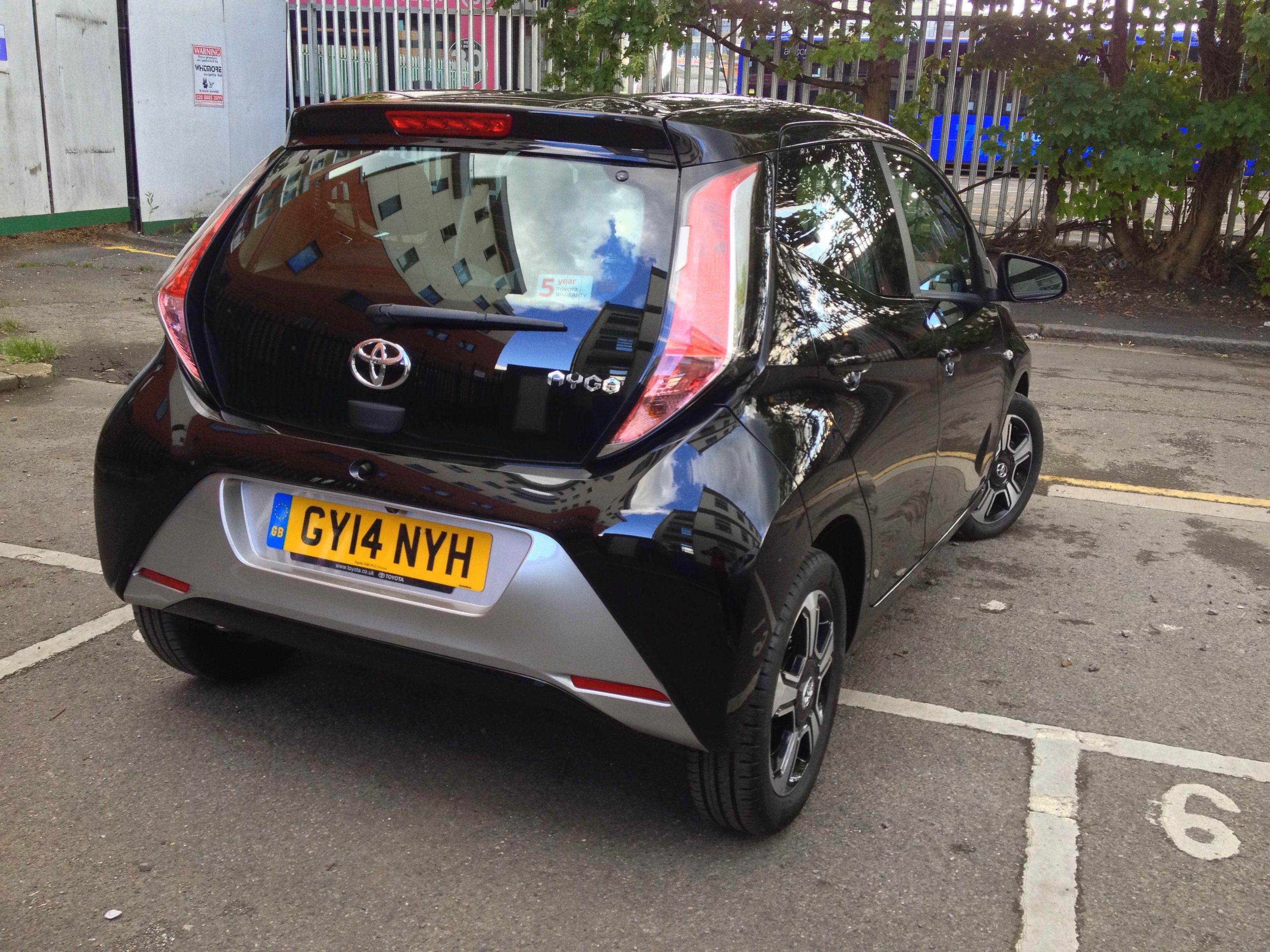 Toyota Aygo In Black Colour Toyota Aygo Toyota Black