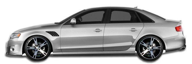 2009-2016 Audi A4 S4 4DR Wagon Duraflex A-Tech Side Skirts Rocker Panels - 2 Piece