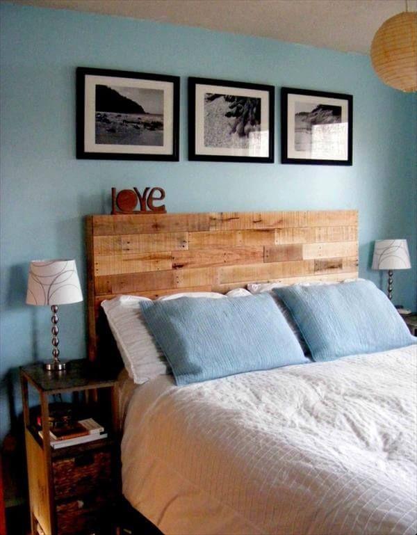 Rustikales DIY Bett: Kopfteil Selbst Bauen Aus Paletten | Diy Bett,  Kopfteile Und Selbst Bauen