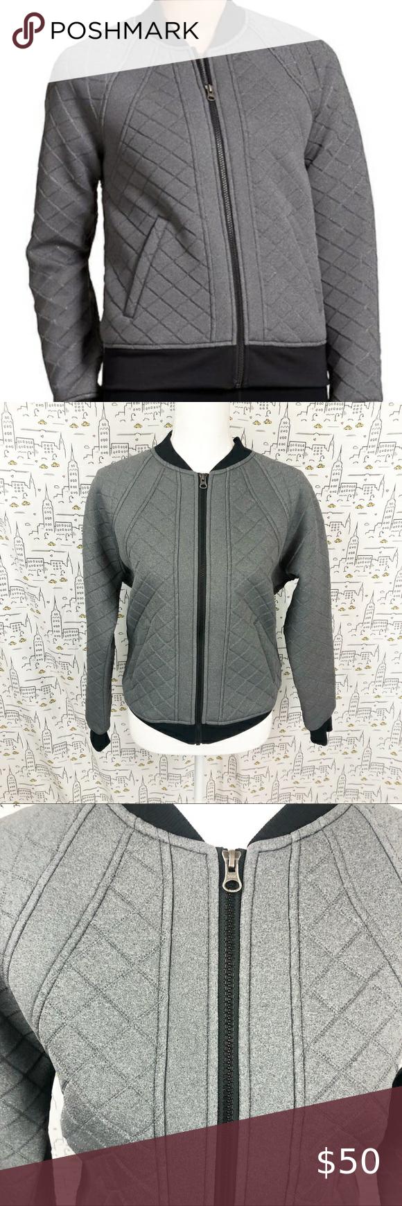 Athleta Infusion Gray Athletic Bomber Jacket Med Long Hooded Jacket Long Black Jacket Bomber Jacket [ 1740 x 580 Pixel ]