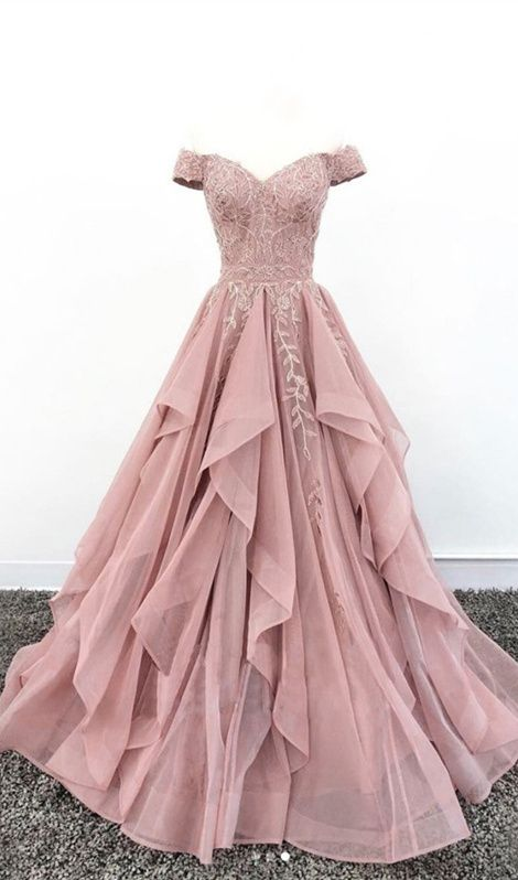 Ballkleid Lang Altrosa  #quinceaneraparty