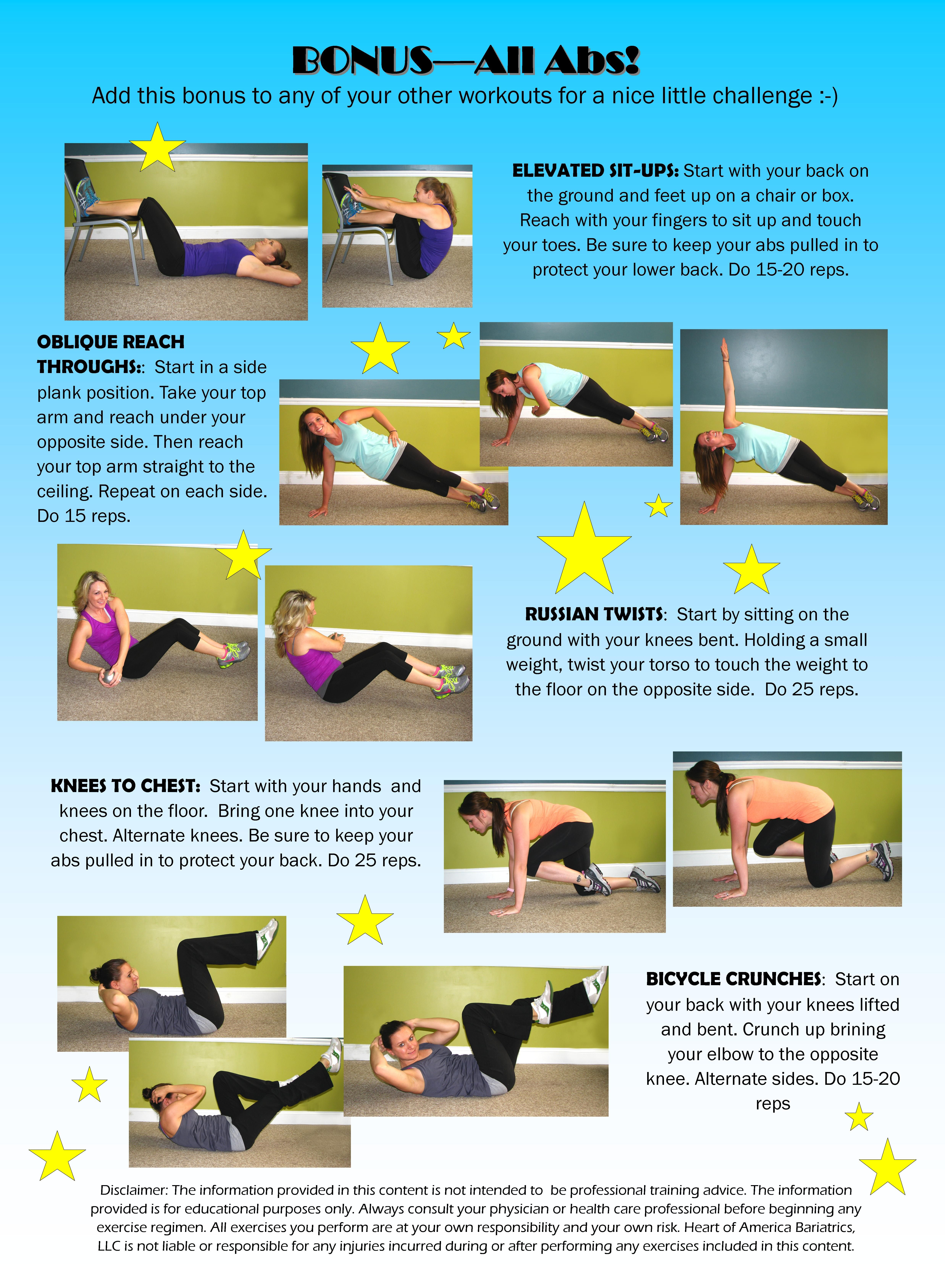 All Abs! Workout. For this free printable workout, and other great ...