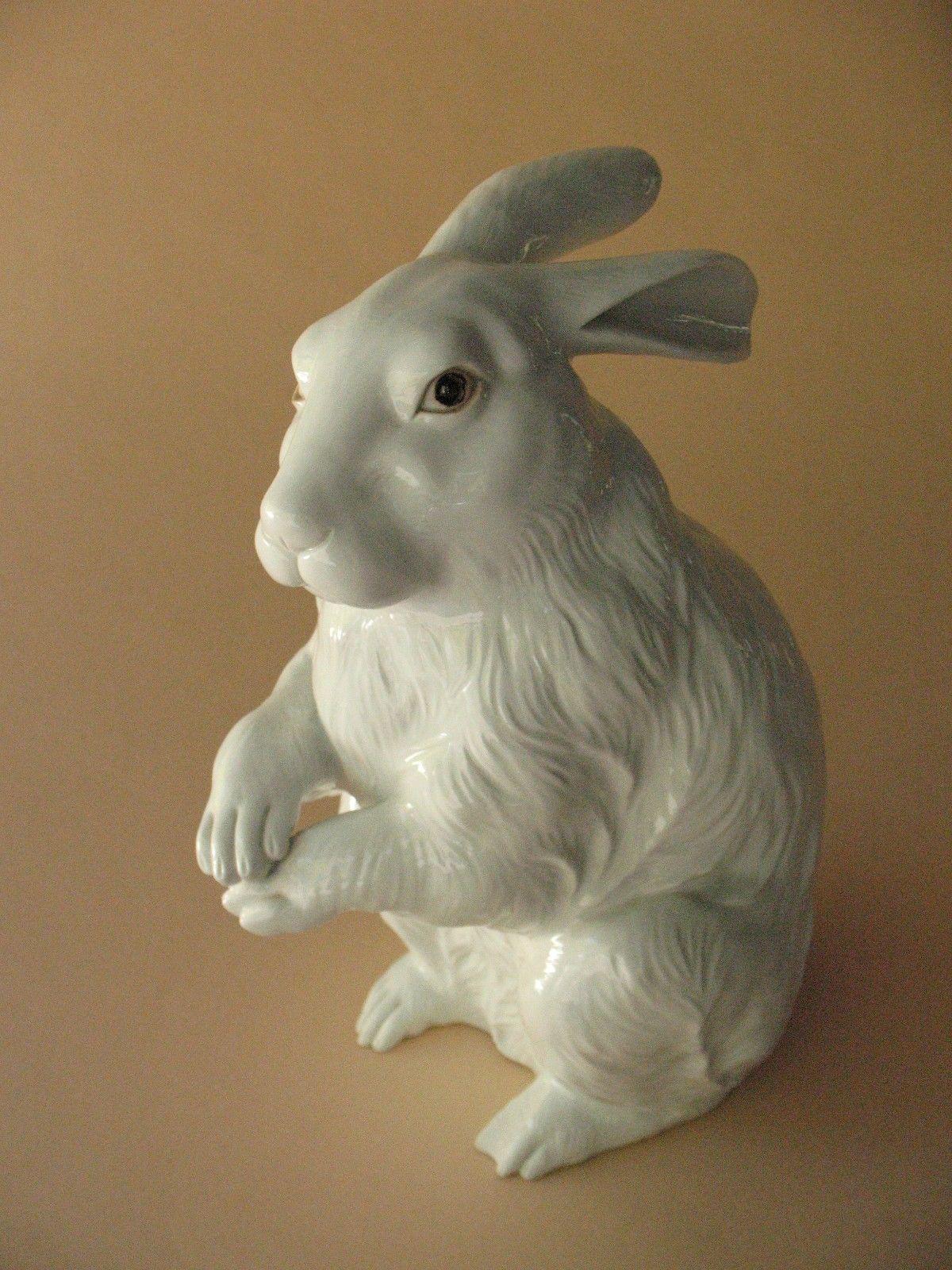 Старые недвижимости японский фарфор хирадо кролик заяц подпись белый arita статуя | eBay