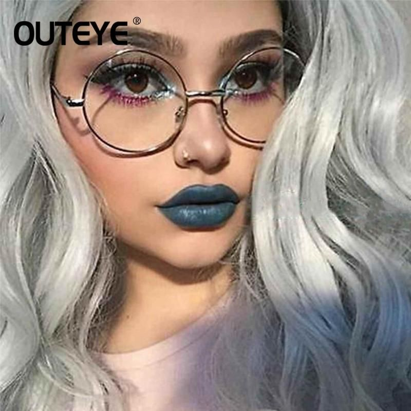 Retro Round Eyewear Clear Glasses Spectacles Optical Eye Glasses ...