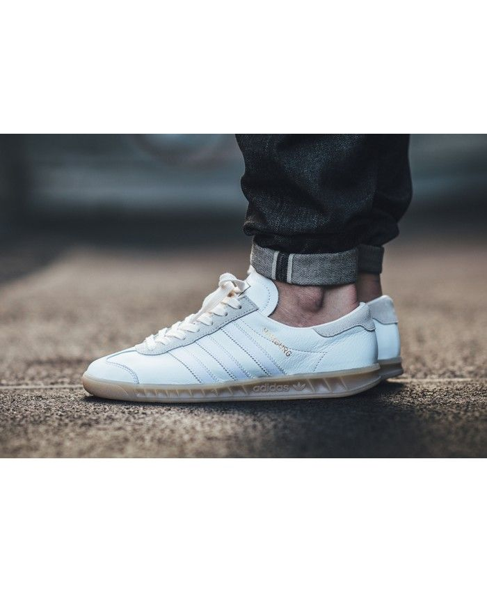 premium selection c035a 0149b Adidas Hamburg White Gum Trainers Sale UK