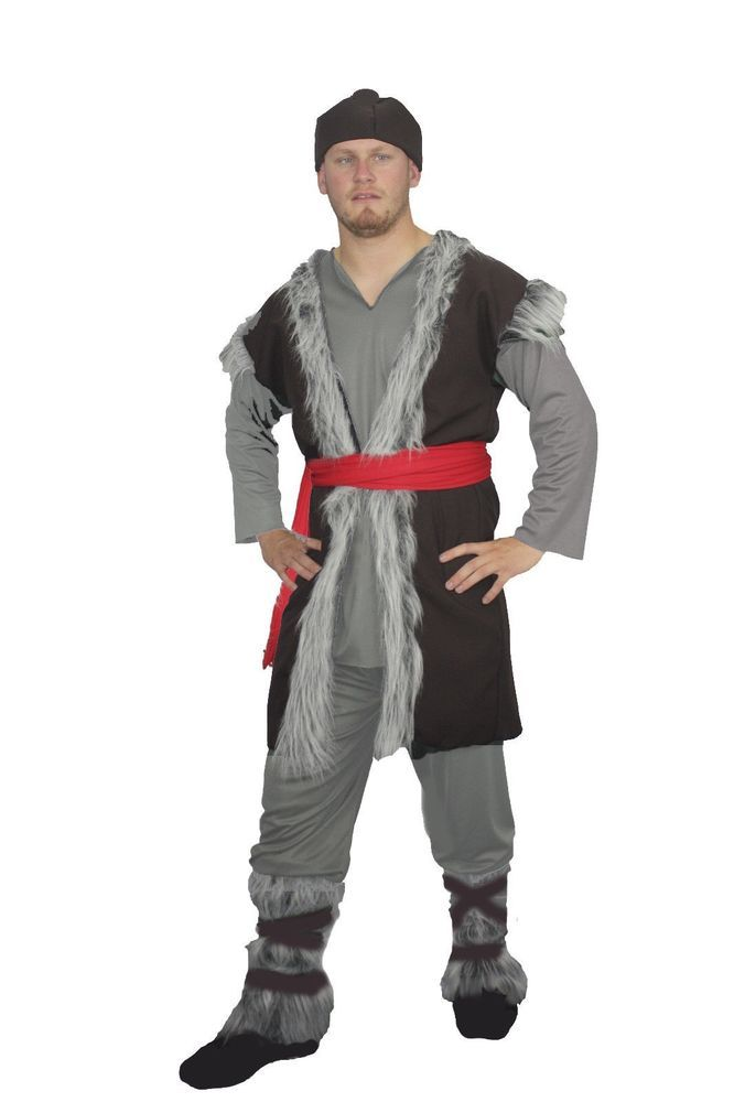 Kristoff Frozen Fancy Dress Complete Costume Deluxe Icelandic Grey Viking  sc 1 st  Pinterest & Kristoff Frozen Fancy Dress Complete Costume Deluxe Icelandic Grey ...