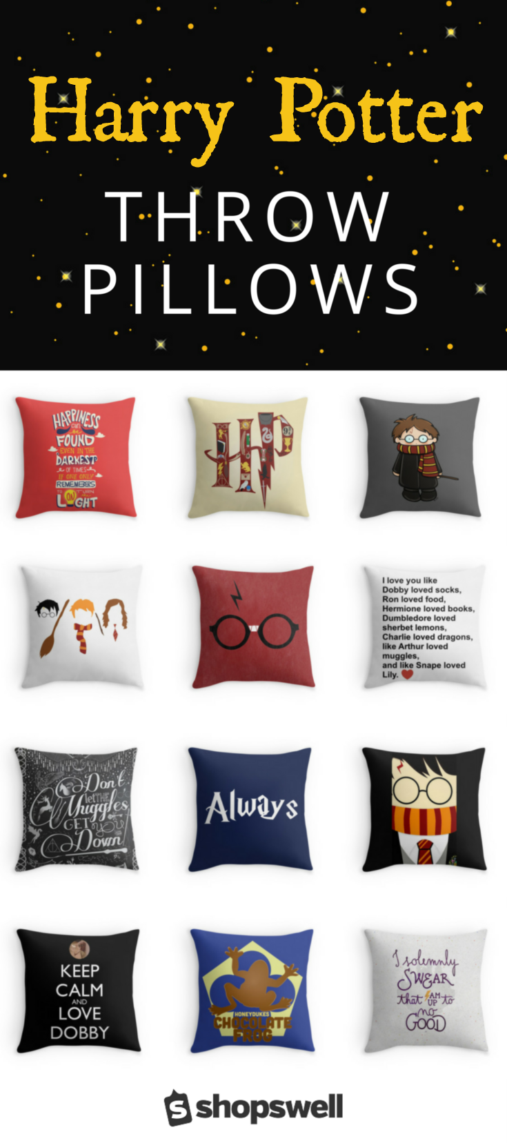 36 Of The Best Harry Potter Throw Pillows Harry Potter Bedroom