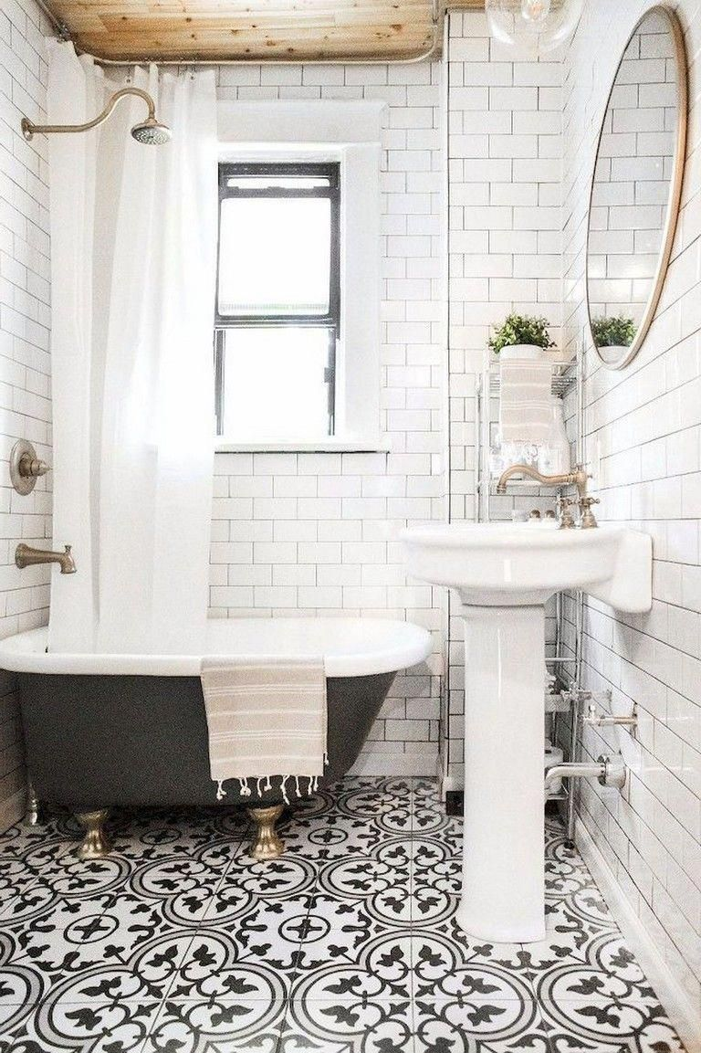 142 Marvelous Farmhouse Bathroom Tile Floor Decor Ideas And Remodel To Inspire Your Bathroom Small Bathroom Trends Modern Small Bathrooms Bathroom Trends