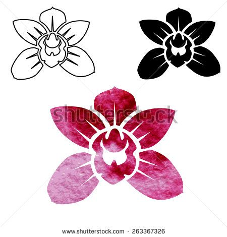 Logo Orchid Vetores E Vetores Clipart Stock Flower Logo Flower Drawing Orchids