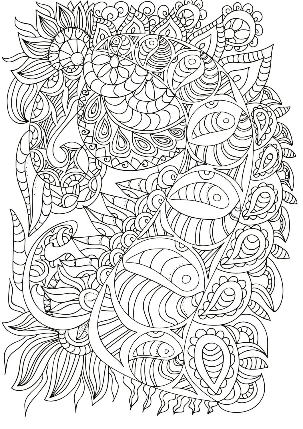 Coloring Pages for Adult, Adult Coloring Pages, Adult Coloring Book ...