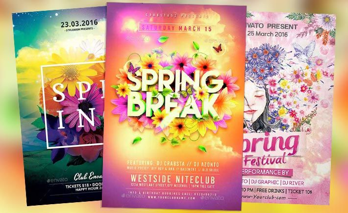 Top  Spring Flyer Templates Collection  HttpFlyersonarCom
