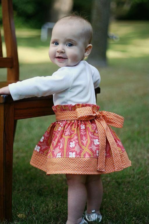 Simple Skirt Pattern Sz. 3m- 10 years