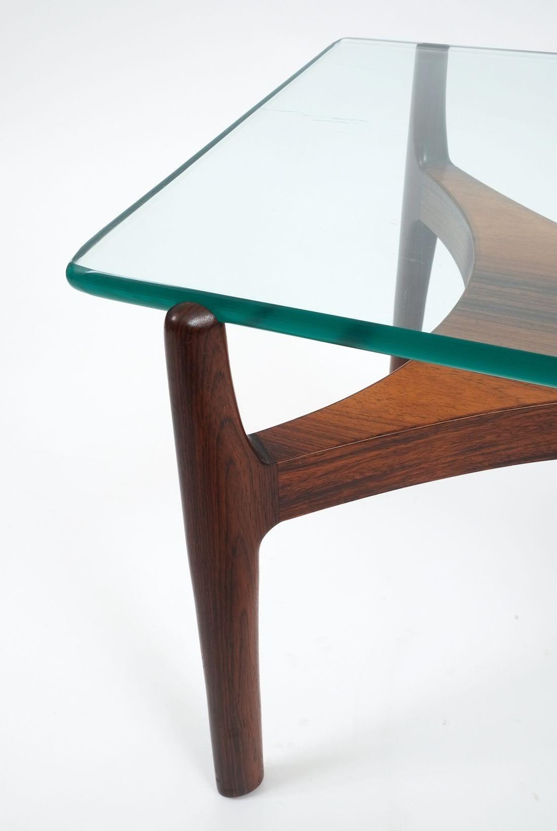 Sven Ellekaer Teak Glass Coffee Or Side Table 1960 Derive Vienna [ 1641 x 1100 Pixel ]