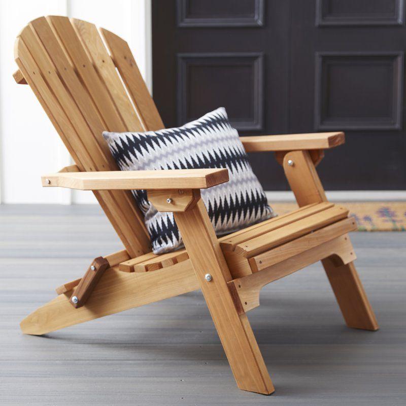 Tustin Solid Wood Folding Adirondack Chair   Wood ...