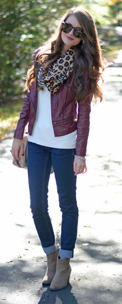 08353e41a Pin by LuxeFinds.com . on Purple & Violet | Leather jacket outfits ...