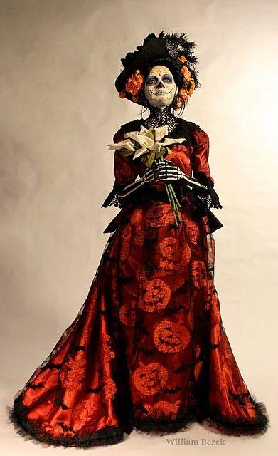 La Catrina Art Doll By WILLIAM BEZEK